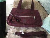 New maroon Kipling handbag