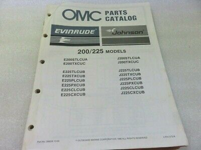 PM64 1987 OMC Evinrude Johnson 200/225 Model OEM Parts Catalog Manual P/N 398636