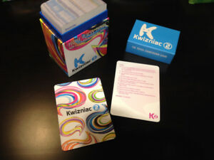 Kwizniac 2 trivia card  game - excellent condition!