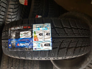 $400- 195/65/15 NEW Winter Performance Tires with used rims
