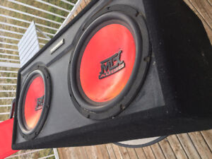 < MTX Thunder Subs - Great Sound and Loud + AMP >