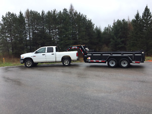 2009 Dodge Power Ram 3500 Pickup Truck & 7 Ton Dump Trailer