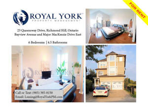 6 BED / 4.5 BATH UPGRADED HOME FOR RENT @ RICHMOND HILL | GO