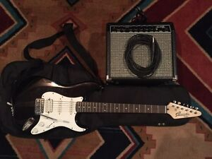 Fender electric guitar and amp package