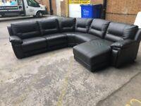 Harveys Hedgemoor Brownie black corner reclining sofa X display