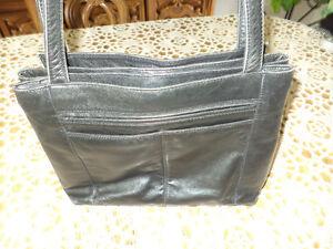 Black leather Derek Alexander purse