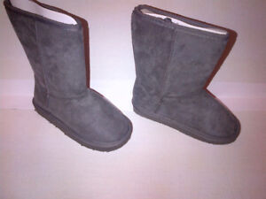 NEW NEW Grey Fuggs Winter Boots Girls Size 12 NEVER WORN!!!!