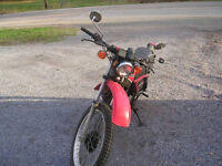 1981 honda xl500s on off road with registration 6900 kms