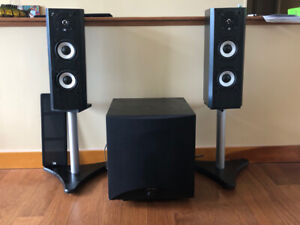 Axiom M22Ti Speakers plus Subwoofer and Stands - $100