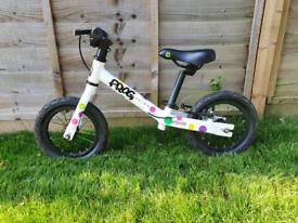 "Kids Frog Tadpole 12"" Balance Bike - Spotty"