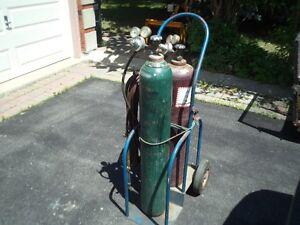 Oxy Acetylene Torch Set-Tanks,Cart,Torch Set