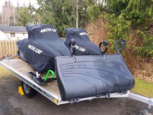 snowmobile and trailer package