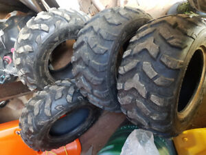 Atv tires and plow