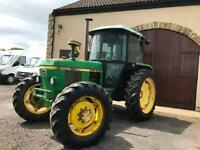 JOHN DEERE 2140 TRACTOR WITH FRONT LIFT 1985 (C) REG