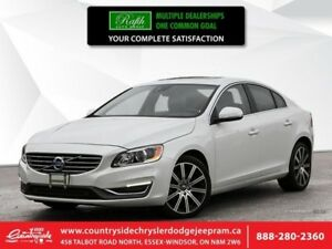 2014 Volvo S60 T6  LEATHER - NAVI - SUNROOF - BT - BACK-UP CAMER