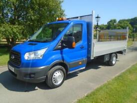 FORD TRANSIT 350 125PS 14FT DROPSIDE PICKUP TAIL LIFT 15 REG 107,000 MILES
