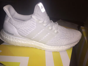 Brand New Size 9 Adidas Triple White Ultra Boosts 3.0