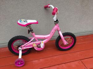 "princess louis garneau bike w/ training wheels. 12"" (ages2-5)"