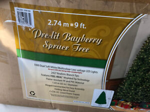 9 foot Pre-lit Bayberry Spruce Tree