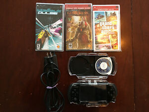 Sony PSP with games and extras