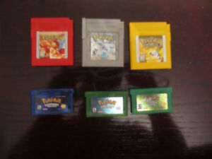 Pokemon Games (GBC + GBA)