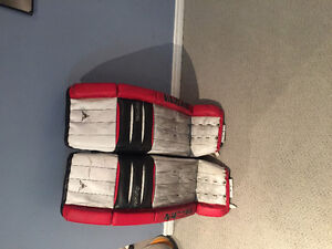 Goalie pads, blocker and chest protector for sale!