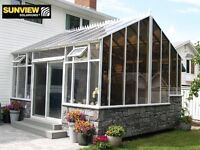 SUNROOMS, SOLARIUMS, PATIO COVERS, CONSERVATORIES.