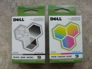 Genuine Series 9 DELL printer ink cartridges MK990 and MK991