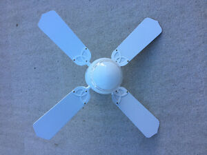WHITE CEILING FAN - SPAN 36 INCHES
