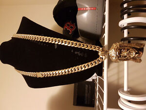 120 gram cuban link heavy 10k gold chain (pendant not included)