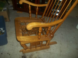 2-Solid wood rocking chair,and other semi vintage furniture