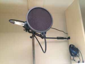 Mic with stand and cover