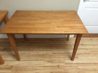 Selling Natural Wood Kitchen Table - Excellent Solid Condition