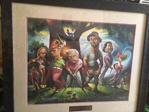 Caddyshack Character collector print # 1198/5000