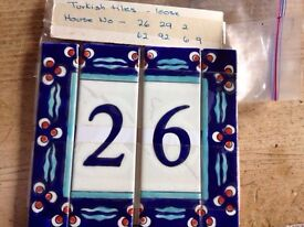 Turkish tiles / loose ,house number 26-29-62-92-