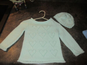 Hand Knit Sweater Sets