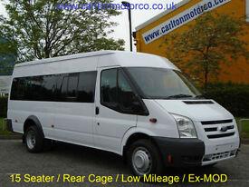 2008 / 58 Ford Transit T430 15 seat Minibus M2 [ Low Mileage ] DRW Ex M.O.D