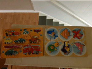 Used wooden puzzles