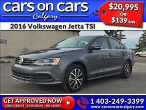 2016 Volkswagen Jetta TSI w/Sunroof, BackUp Cam, Satellite Radio