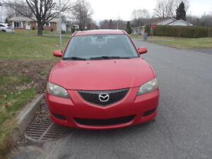 mazda 3 2005 rouge 125000km automatique