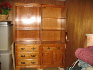 Double Maple wall unit