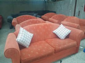 4 coral sofas
