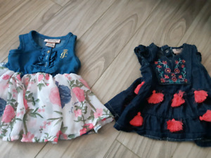 2 robes 3-6 mois juicy couture