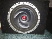 Kenwood subwoofer and amp in mint condition