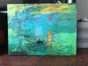 Impression Sunrise Monet stretch Canvas Picture