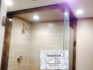 Thresholds, Marble vanities, Shower jambs