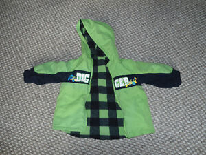 Size 2 green/black spring/fall coat or jacket - very gently used