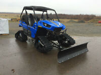 2014 teryx EPS with camoplast tracks and plow