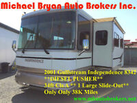 2001 GULFSTREAM INDEPENDENCE 34FT *DIESEL PUSHER*SPRING BLOW-OUT