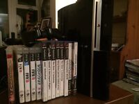 PS 3 with 1 controller and selection of games